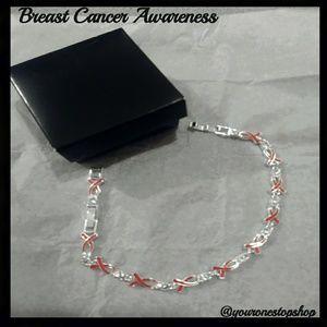 📣Breast Cancer Tennis Bracelet